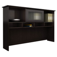 "Bush Cabot Collection Hutch 60"" Espresso Oak finish - WC31831-03"