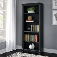 Bush Birmingham Executive Collection Bookcase 5-Shelf in Antique Black - WL26965-03