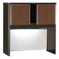 "Bush Business Furniture Series A Hutch 36"" Sienna Walnut - WC25537P"