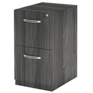 Mayline Aberdeen Pedestal File Assembled for Credenza F/F Gray Steel - AFF20-LGS
