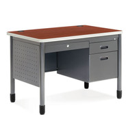 "MONTHLY SPECIAL! OFM Mesa Series Steel Single Pedestal 42"" Steel Desk - 66242"
