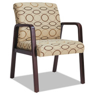 Alera Reception Lounge Series Guest Chair Tan / Mahogany - RL4351M