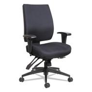Alera Wrigley Series High Performance Mid-Back Multifunction Chair Black - HPM4201