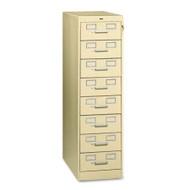 Tennsco Multimedia Steel 8-Drawer File Cabinet - CF-846PY