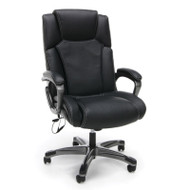 OFM Essentials Heated Shiatsu Massage Leather Executive Chair - ESS-6035M