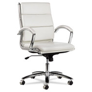 Alera Neratoli Mid-Back Soft-Touch Leatherette Chair White - NR4206