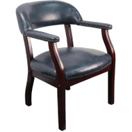 Flash Furniture Navy Vinyl Luxurious Conference Chair - B-Z105-NAVY-GG