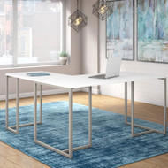 Kathy Ireland by Bush Method Collection 72W L-Shaped Desk White - MTH017WH