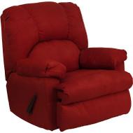 Flash Furniture Contemporary Montana Garnett Microfiber Suede Rocker Recliner - WM-8500-265-GG
