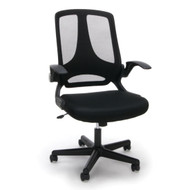 OFM Essentials Mesh Upholstered Flip-Arm Task Chair - ESS-3045