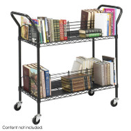 Safco Wire Book Cart - 5333BL