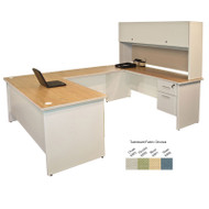 Marvel U-Shaped Steel Desk & Hutch - PRNT59