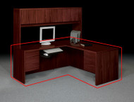 HON 10500 Series Large L Shaped Desk Workstation With Return on Left - 10585RNN 10516LNN