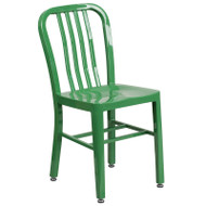 Flash Furniture Green Metal Indoor-Outdoor Chair (2-pack) - CH-61200-18-GN-GG
