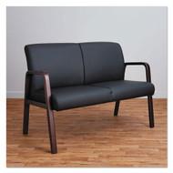 Alera Reception Lounge Series Leather Loveseat - RL2219