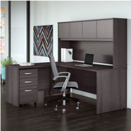 "Bush Business Furniture Studio C Desk L-Shaped Package 72"" Storm Gray - STC006SG"
