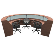 MONTHLY SPECIAL! OFM Marque 4-Unit Plexi-Reception Station with Mobile Files and Chairs Package - MARQUE7