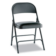 Alera Steel Folding Chair (4 pack) Graphite with Padded Seat - FC94VY10B