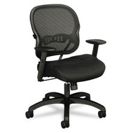 Basyx by HON Black Mesh Mid-Back Swivel / Tilt Work Chair - VL712MM10