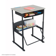 Safco Alphabetter Box Desk with Book Box - 1202BE