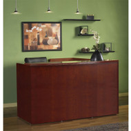 Mayline Luminary Reception Desk With Return Cherry - RS7278
