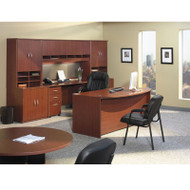 Bush Business Furniture Series C Package Executive Bowfront Desk Mahogany - MAHPackageB