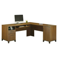 Bush Achieve L-Shaped Computer Desk Warm Oak - PR67310K