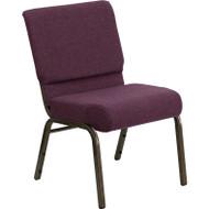 Flash Furniture Hercules Series 21 Extra Wide Plum Fabric Chair - FD-CH0221-4-GV-005-GG