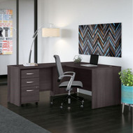 "Bush Business Furniture Studio C Desk L-Shaped Package 72"" Storm Gray - STC007SG"