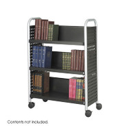 Safco Scoot Single-Sided 3 Shelf Book Cart - 5336BL