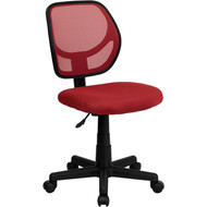 Flash Furniture Mid-Back Red Mesh Task Chair and Computer Chair - WA-3074-RD-GG