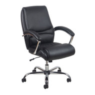 OFM Essentials by OFM High Back Leather Chair, Black - ESS-6070-BLK