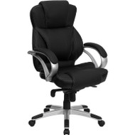 Flash Furniture High Back Black Leather Contemporary Office Chair - H-9626L-2-GG