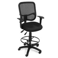 OFM Modern Mesh Ergonomic Task Stool with Arms - 130-AA3-DK