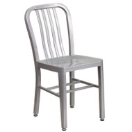 Flash Furniture Silver Metal Indoor-Outdoor Chair (2-Pack) - CH-61200-18-SIL-GG