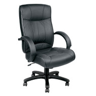Eurotech by Raynor Odyssey High-Back Black Leather Chair - LE9406