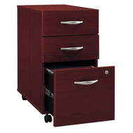 Bush Business Furniture Series C Mobile File Cabinet 3-Drawer in Mahogany Assembled - WC36753SU