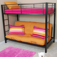 Walker Edison Sunset Twin Futon Bunk Bed Black - BTOFBL