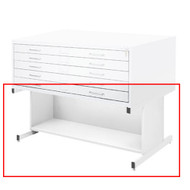 Safco Open Flat File Base for Flat File 4986 & 4996 White Finish - 4977WHR