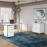 Kathy Ireland by Bush Method Collection 60W Desk with File Storage White - MTH025WHSU