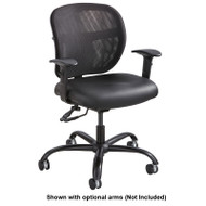 Safco Vue Intensive Use Mesh Task Chair with Vinyl Seat - 3397BV