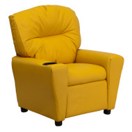 Flash Furniture Contemporary Kid's Recliner with Cup Holder Yellow Vinyl - BT-7950-KID-YEL-GG