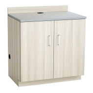 Safco Hospitality Base Cabinet, Two Door, Vanilla Stix/Gray- 1702VS