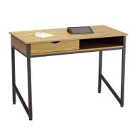 Safco Single Drawer Office Desk, Black - 1950BL