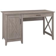 "Bush Key West Desk Single Pedestal 54"" Washed Gray - KWD154WG-03"