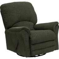 Flash Furniture Contemporary Network Graphite Cotton-Poly Acrylic Blend Swivel Glider Recliner - AM-9210-4727-GG