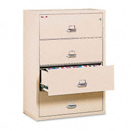 FireKing 4-Drawer Lateral Fire and Impact Resistant Letter/Legal File 31 1/8W x 22 1/8D - 43122CPA