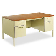 "HON Metro Classic Series 60""  Double Pedestal Metal Desk - P3262"