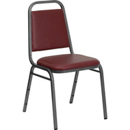Flash Furniture Hercules Series Trapezoidal Back Stacking Banquet Chair with Burgundy Vinyl - FD-BHF-2-BY-VYL-GG