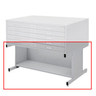 Safco Open Flat File Base for Flat File 4986 & 4996 Gray Finish - 4977GRR